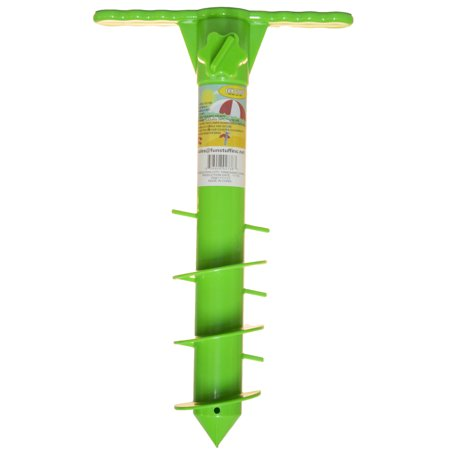16 Inch Plastic Beach Umbrella/ Tent/ Fishing Pole Anchor Sand Screw (Green)