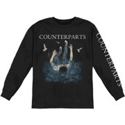 Counterparts Men's  The Current Will Carry Us  Long Sleeve Black