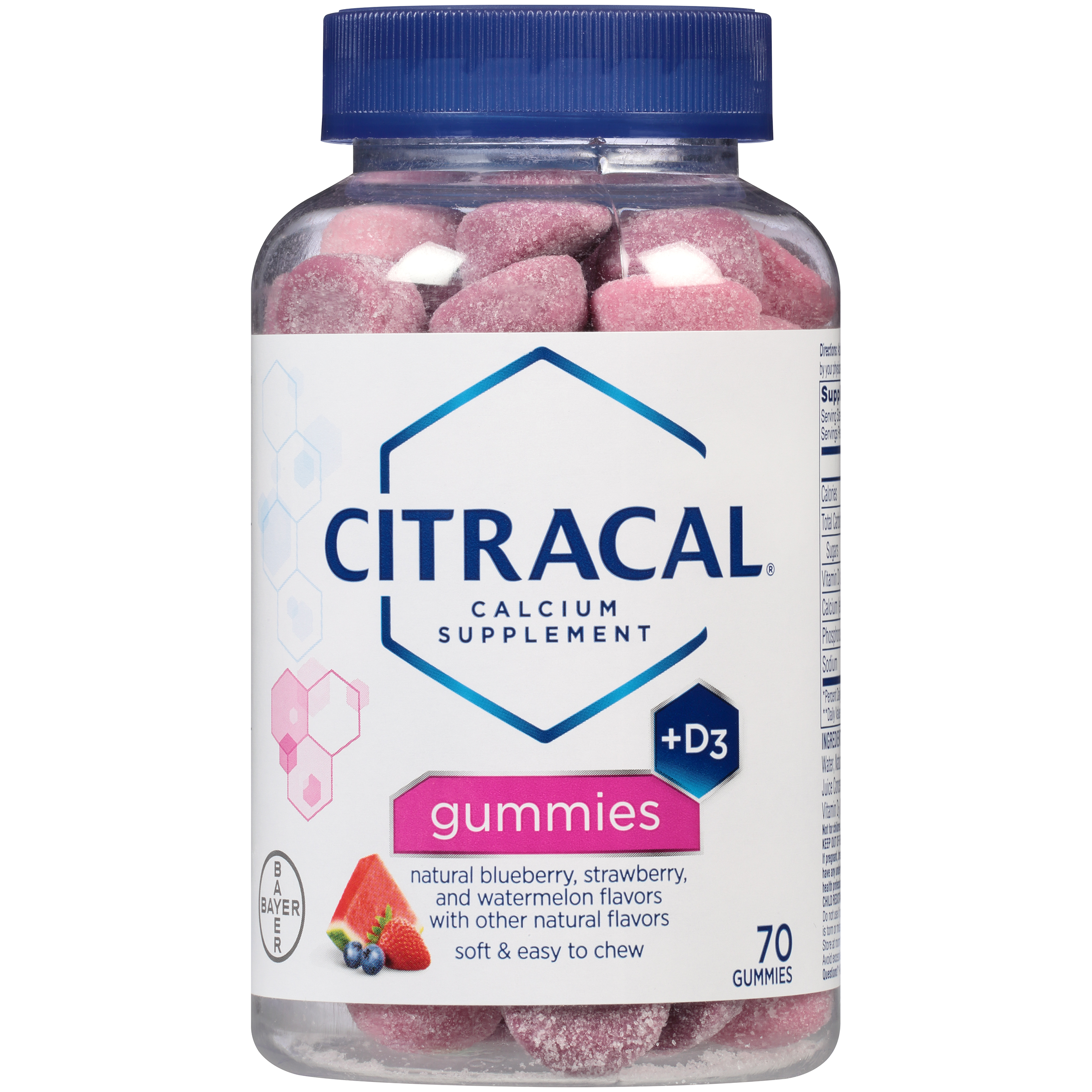 Citracal Gummies Calcium Supplement With Vitamin D3, 70 Count