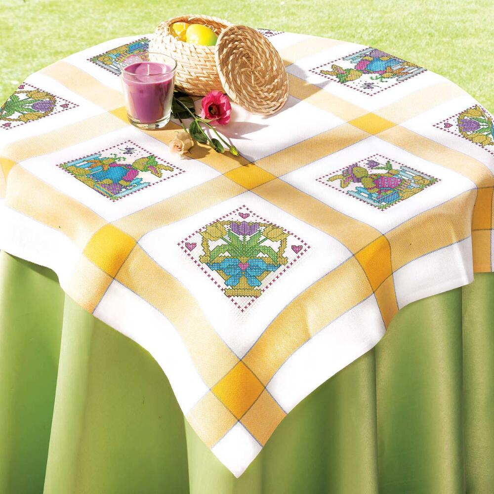 Craftways® Bunny Party Table Topper Counted Cross-Stitch Kit
