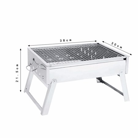 Outdoor Portable Folding Stainless Steel Barbecue Grill BBQ Picnic Camping  new - image 4 of 11
