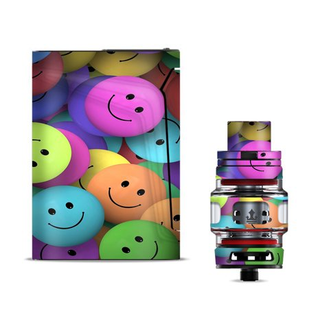 Skin Decal for Smok V-Fin 160w Vape / Colorful Smiley Faces Balls