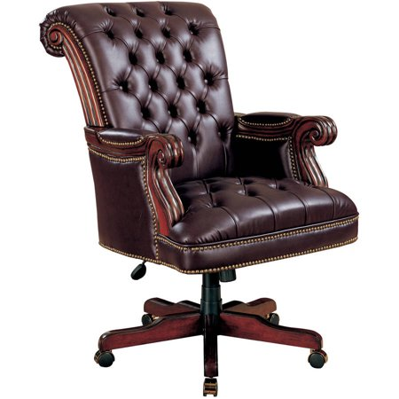 Coaster Company Traditional Style Nail Head Office Chair Dark Brown Leatherette
