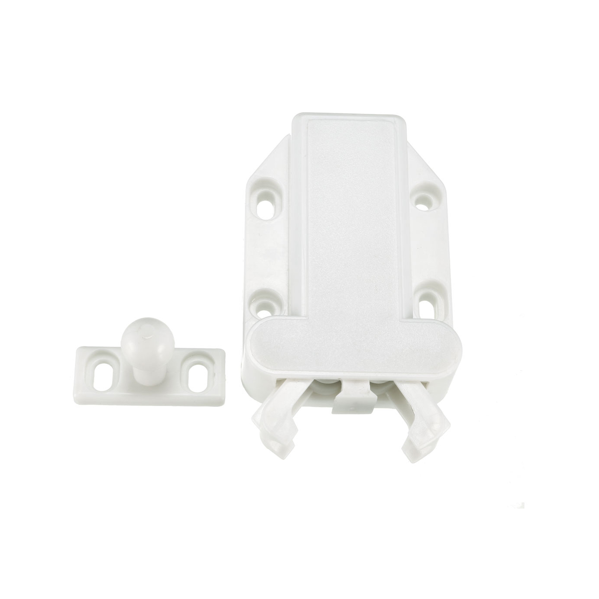 Push Open Latch Lock Touch Catch for Bedroom Cabinet Cupboard Drawer White 5Pcs - image 4 of 8