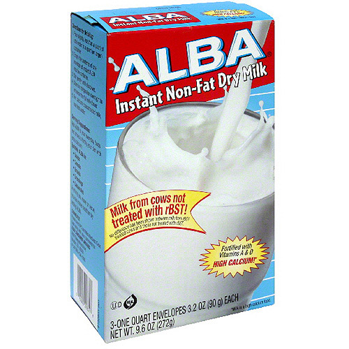 Alba Instant Non-Fat Dry Milk, 3.2 oz (Pack of 12)