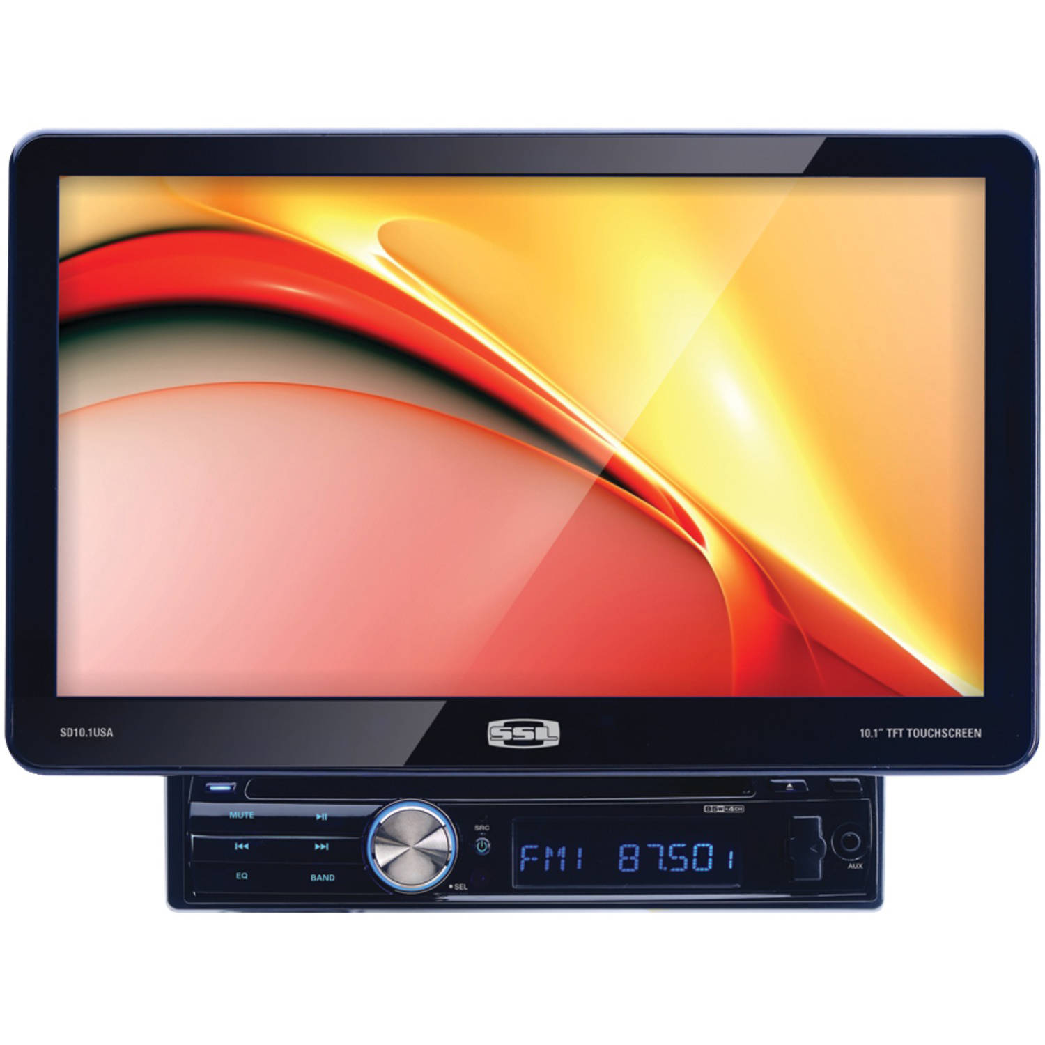"Soundstorm SD10.1USA 10.1"" Single-DIN In-Dash DVD Receiver with Detachable Touchscreen Monitor without Bluetooth"