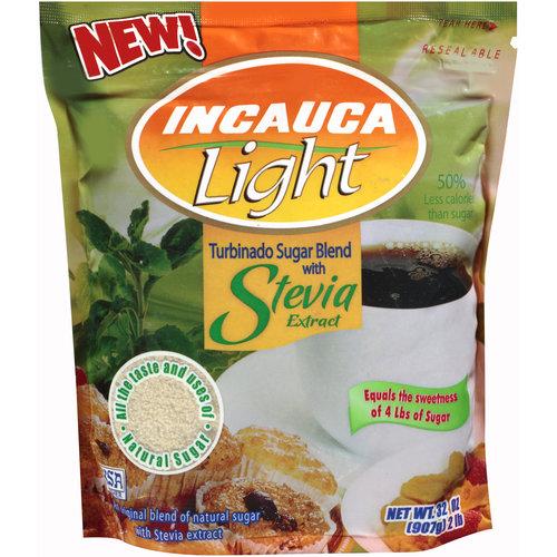 Incauca Light Turbinado Sugar Blend with Stevia Extract, 32 oz