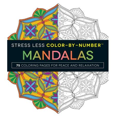 Stress Less ColorByNumber Mandalas