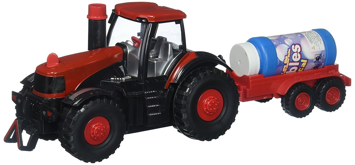 Super Cool Bubble Blowing Battery Operated Toy Tractor w  Lights, Sounds, Funnel, &... by Velocity Toys