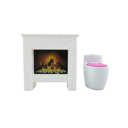 Barbie DreamHouse - Replacement Toilet & Fireplace FHY73