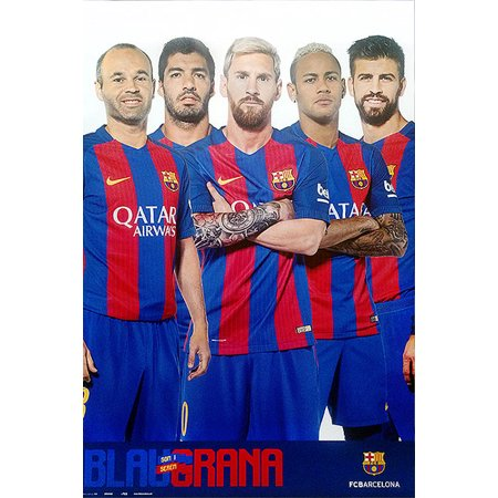 Fc Barcelona   Sports Poster   Print  The Star Players   Lionel Messi  Nymar Jr      Size  24  X 36