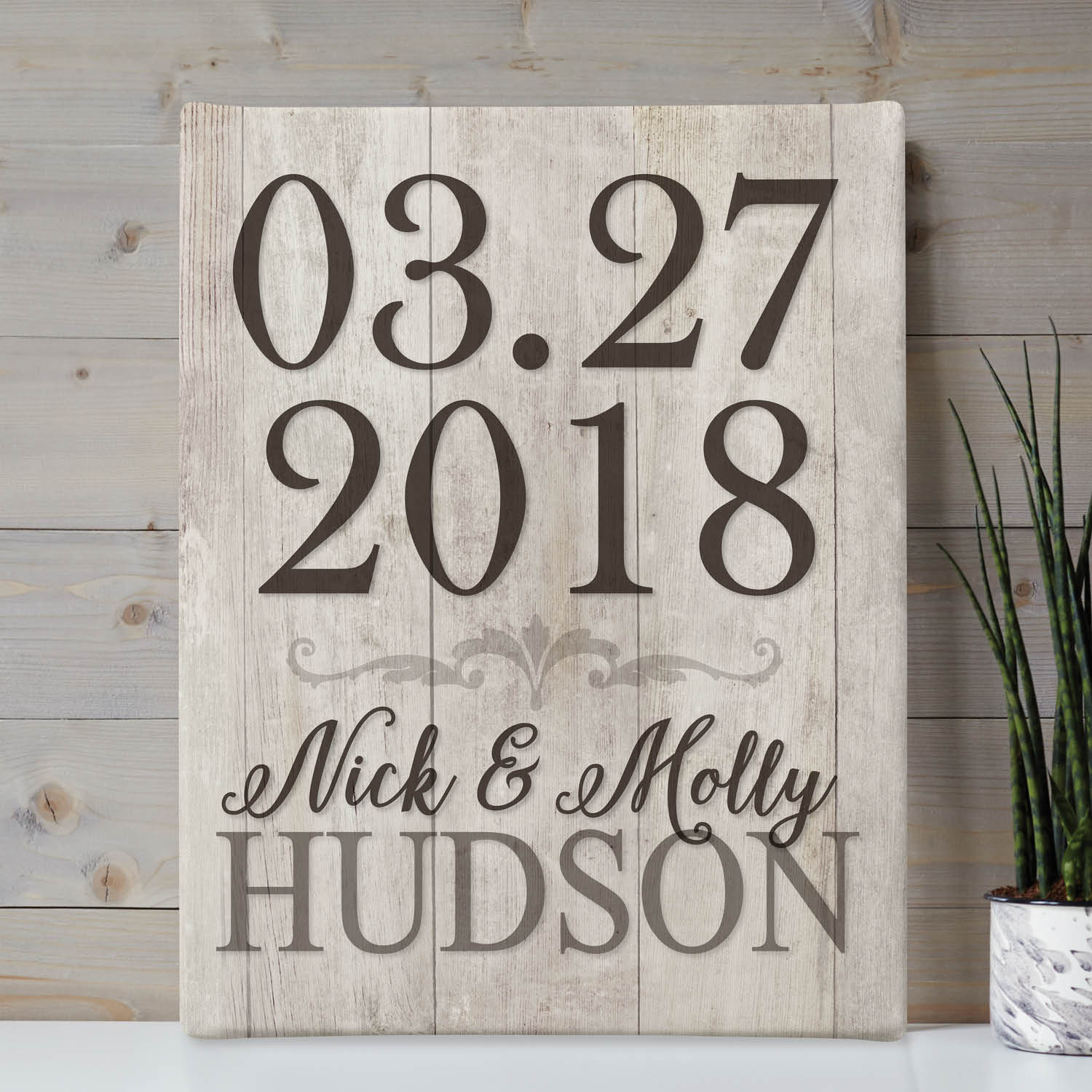 Special Date Personalized 11x14 Canvas
