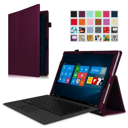 Fintie Case for Microsoft Surface Pro 3 - Slim Fit PU Leather Folio Stand Cover with Stylus Holder,