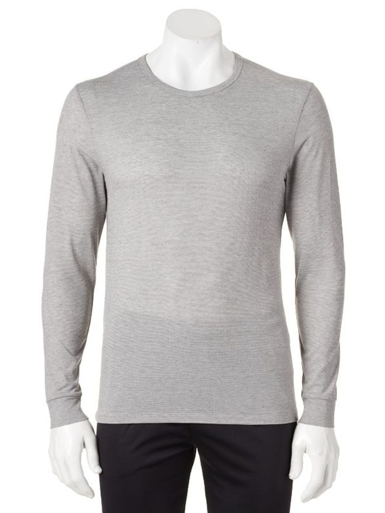 New Heat Keep Mens Long Sleeve Crew Neck Performance Base Layer Black