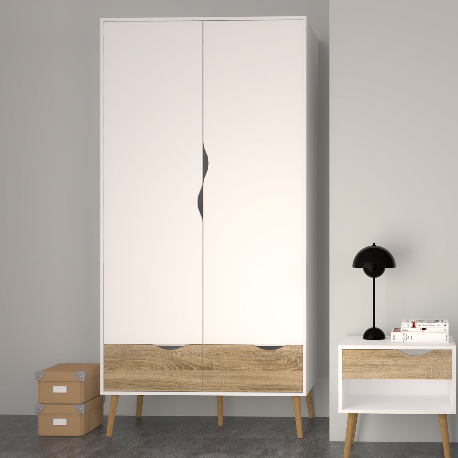 Diana 2 Drawer and 2 Door Wardrobe