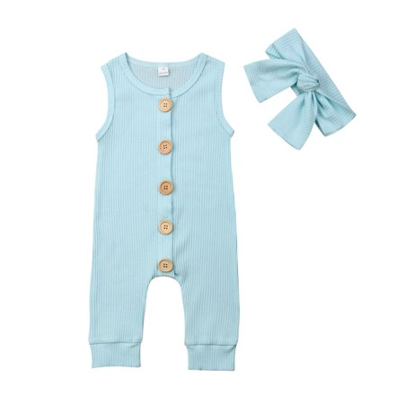 Newborn Kids Baby Boys Girls One-Piece Jumpsuit Romper Casual Outfits Clothes (Girls One Piece Jumpsuit)