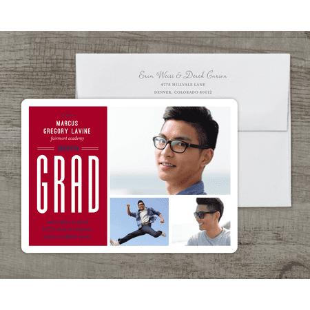 Personalized Graduation Announcement - Grad Spirit - 5 x 7 Flat - Personalized Graduation Announcements