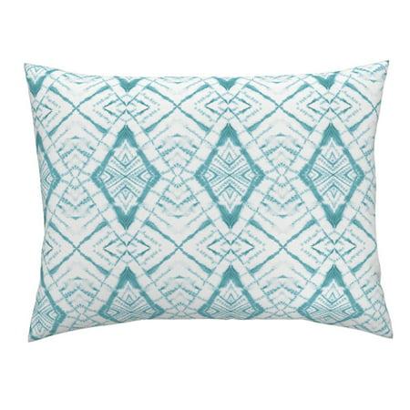 Tie Dye Blue Green Tie Dye Tie Dye Dye Watercolor Pillow Sham by Roostery