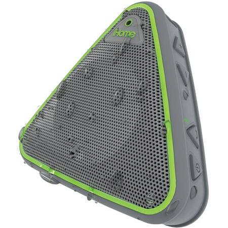 iHome Splashproof Wireless Bluetooth Speaker with Speakerphone, Gray