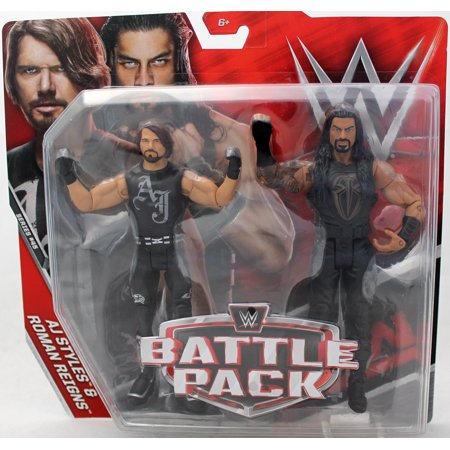Aj Styles   Roman Reigns   Wwe Battle Packs 45 Wwe Toy Wrestling Action Figures