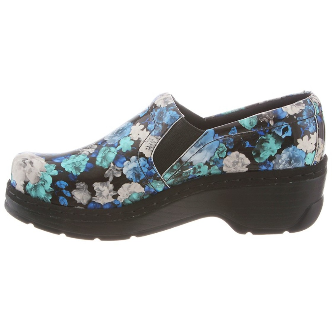 Klogs Naples Mens - Womens Clogs - Black Flower Tooled