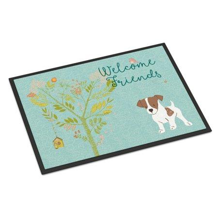 Welcome Friends Jack Russell Terrier Puppy Door Mat