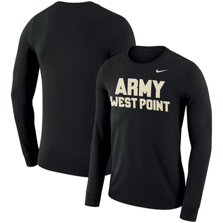 Army Black Knights Nike Performance Cotton School Wordmark Long Sleeve T-Shirt - Black - Nike Army Black Knights
