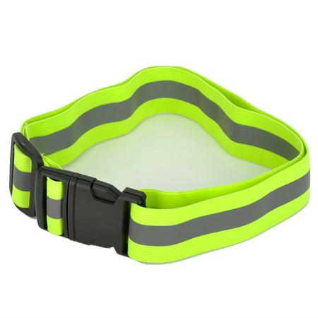 Reflective Safety Waist Belt Buckle Band for Jogging Climbing Camping Running Biking Walking