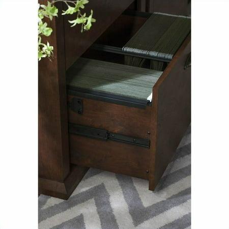 Scranton & Co 60W L-Desk in Antique Cherry - image 5 of 11