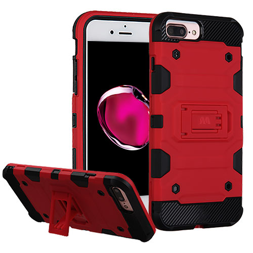 MUNDAZE Red Defense Double Layered Case For Apple iPhone 7 Plus Phone