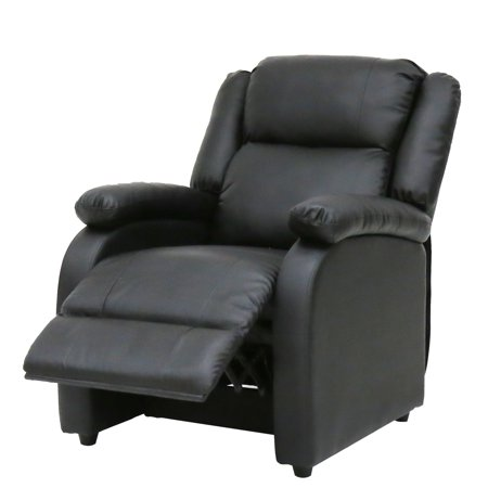 Kinbor Electric Mage Recliner Sofa Chair Heated Ergonomic Couch W Control Black