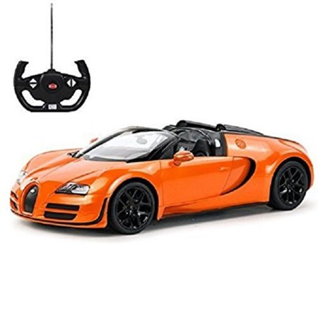Radio Remote Control 1/14 Bugatti Veyron 16.4 Grand Sport Vitesse Licensed RC Model Car (Orange) - image 1 of 1