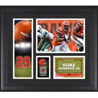 """Duke Johnson Cleveland Browns Framed 15"""" x 17"""" Player Collage with a Piece of Game-Used Football"""
