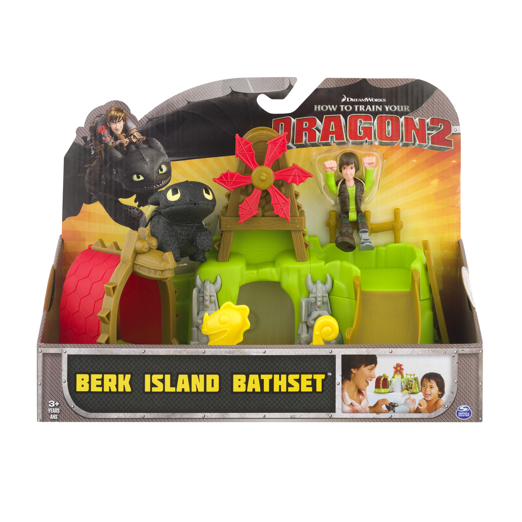 DreamWorks How to Train Your Dragon 2 Berk island Bath Set, 1.0 CT by SPIN MASTER