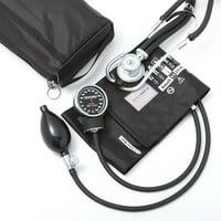 Premium Sphygmomanometer and Sprague Stethoscope Kit, Black-1 Each