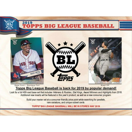 2019 Topps Big League Baseball Hobby Box 24 Packs Of 10 Cards