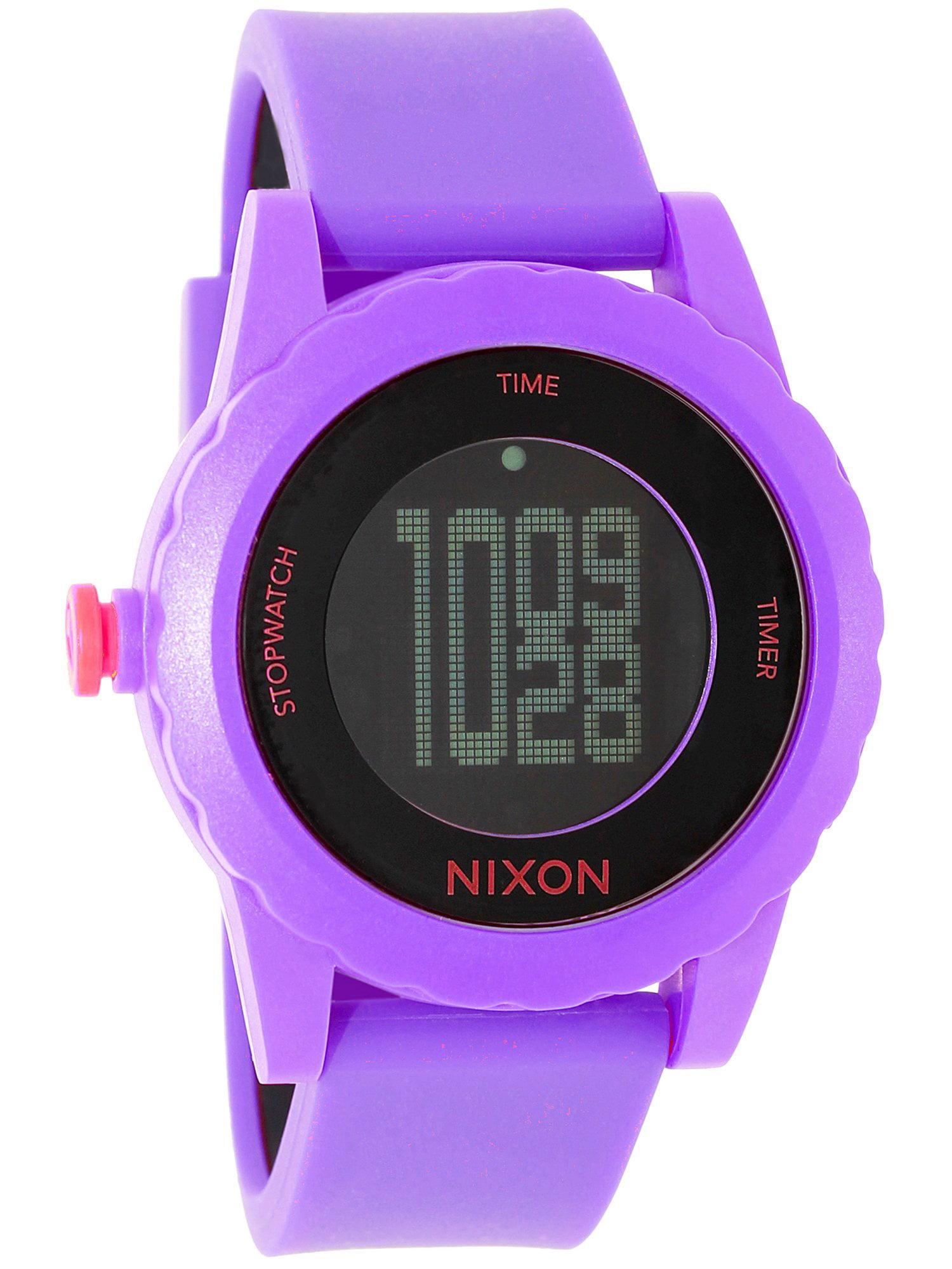 Women's Genie A326230 Purple Silicone Quartz Sport Watch