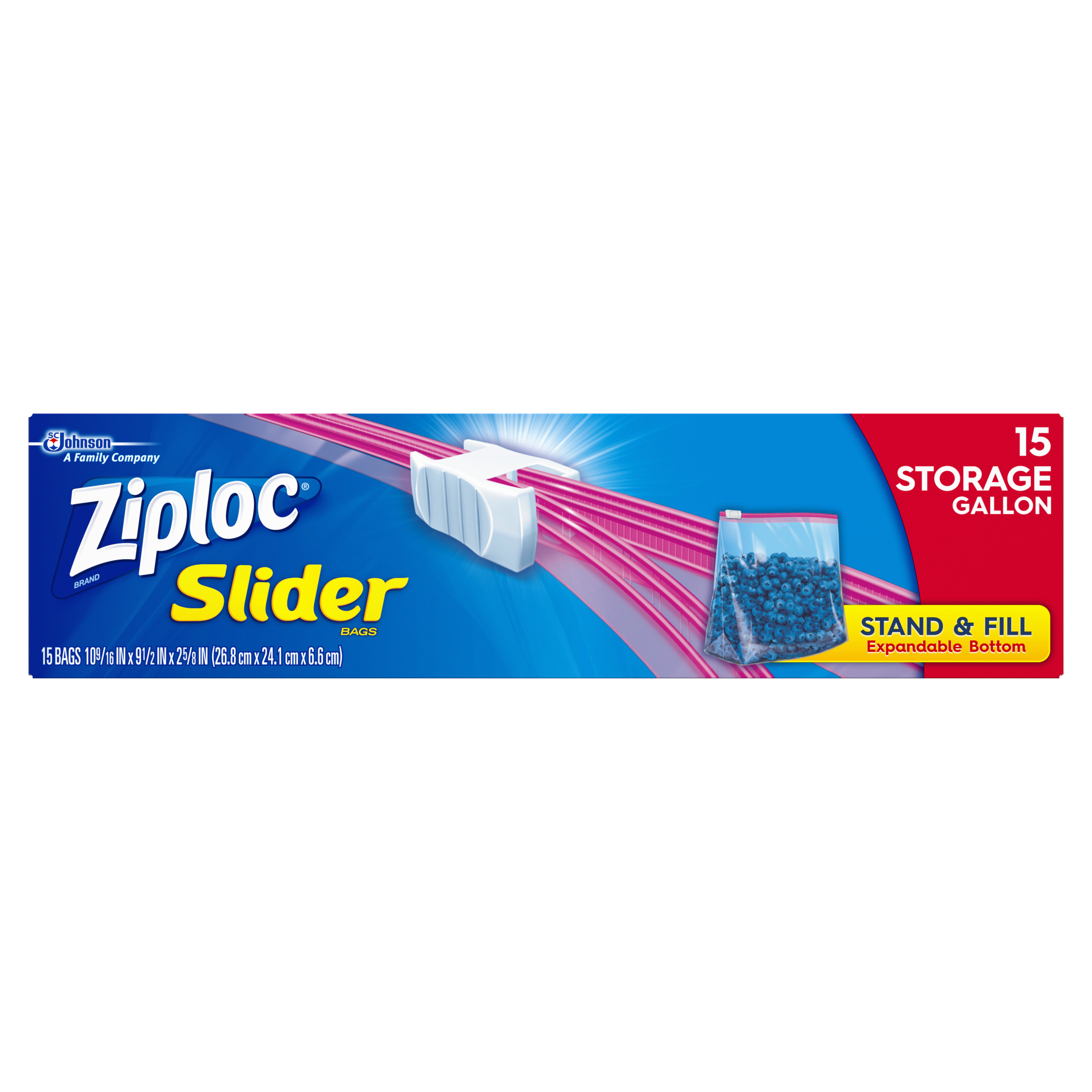 Ziploc Slider Storage Bags Gallon 15 count