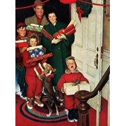 """Merry Christmas, Grandma!"" Figurative Family Art Print Wall Art By Norman Rockwell"