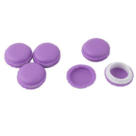 5 Pcs Mini Macaron Makeup Cosmetic Storage Box Jewelry Organizer Pill Small Electronic Gadget Case Containers Jewelry Pill Box