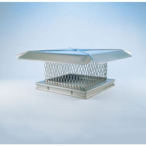 "Gelco 12"" x 12"" Stainless Steel Single-Flue Chimney Cap 3/4"" Mesh"