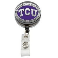 TCU Horned Frogs #2 Badge Reel