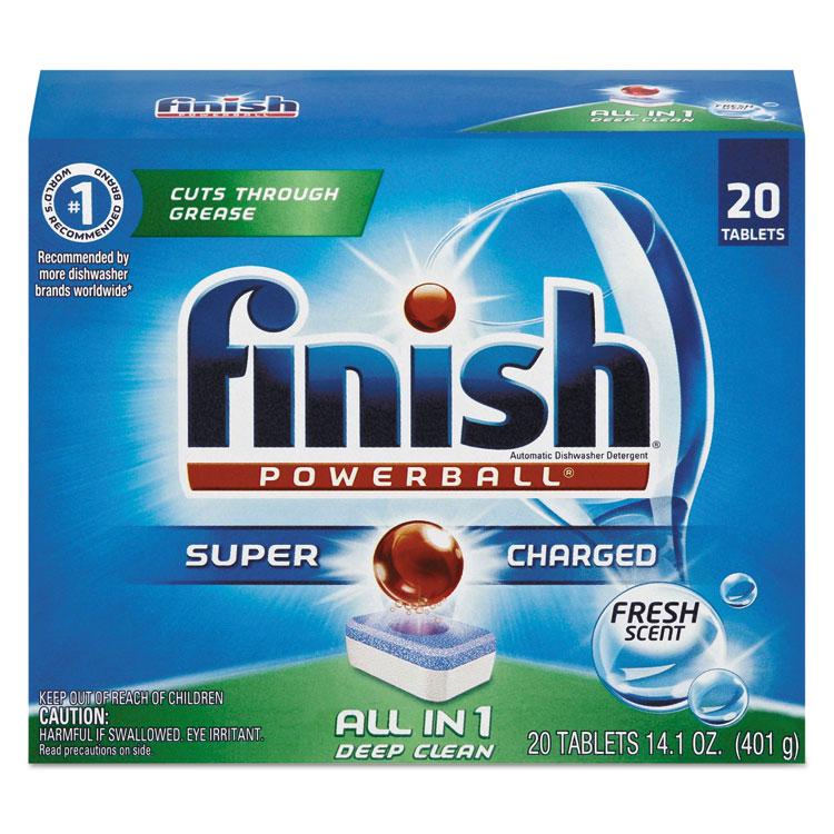 Reckitt Benckiser Powerball Dishwasher Tabs, Fresh Scent,...
