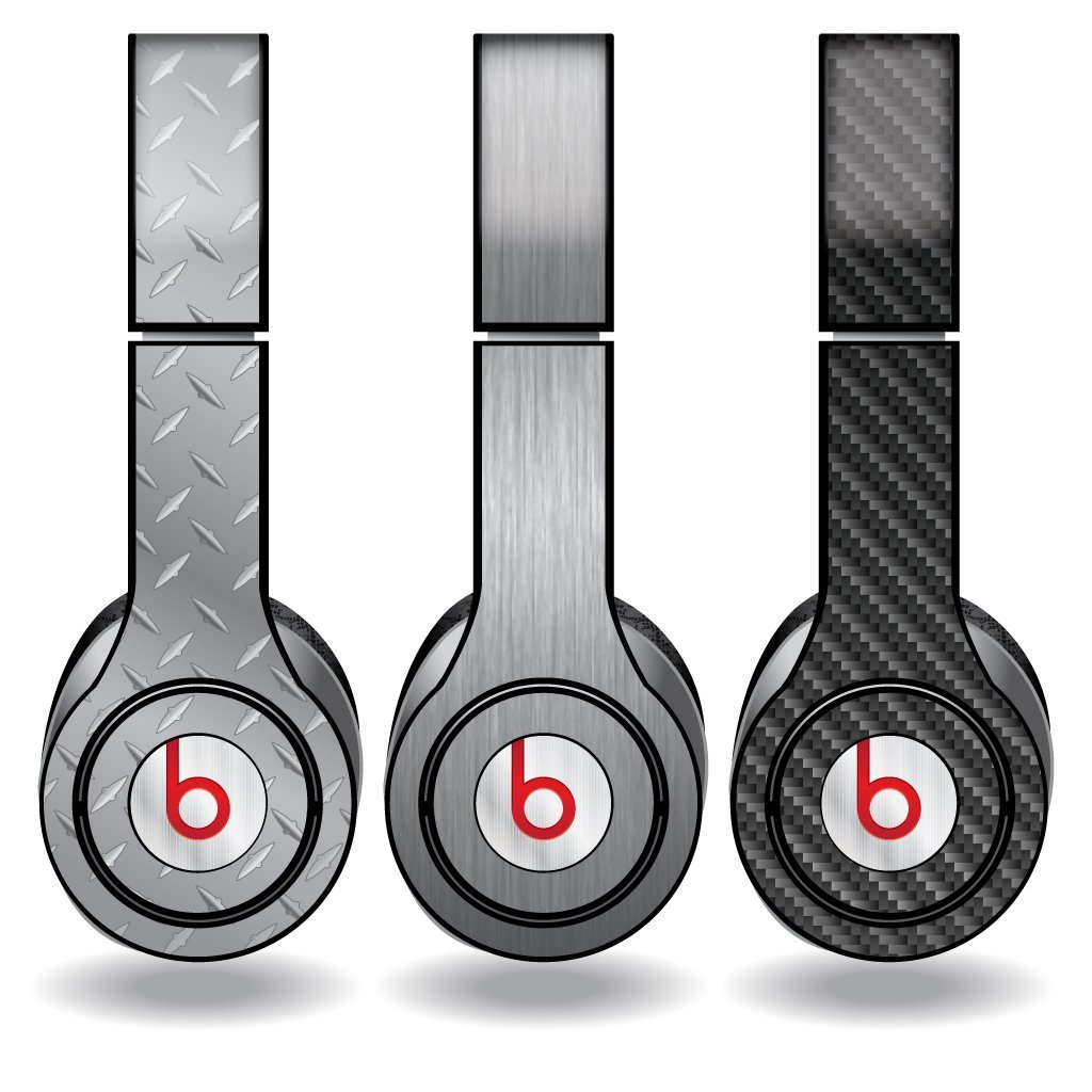 Metal Textures Set of 3 Headphone Skins for Beats Solo HD...