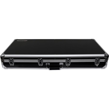 "Odyssey K10PT01BLK Black DJ Coffin for Two Numark PT01 Scratch Turntables and A Compact 10"" Format DJ Mixer"