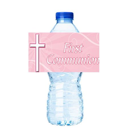 Pin First Holy Communion Party Decorations 15ct Water Bottle Sticker Labels](First Communion Party Decorations)