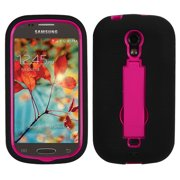 For T399 Galaxy Light Hot Pink/Black Symbiosis Stand Protector Cover