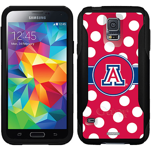 University of Arizona Polka Dots Design on OtterBox Commuter Series Case for Samsung Galaxy S5