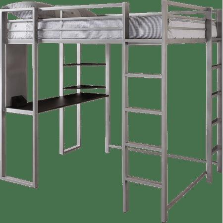 dorel dhp full metal loft bed over workstation desk multiple colors. Black Bedroom Furniture Sets. Home Design Ideas
