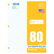 """Norcom Filler Paper, Graph Ruled 5 x 5, 80 Pages, 8"""" x 10.5"""", 78550"""